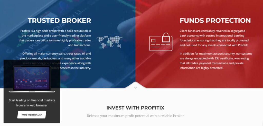 что обещает клиентам profitix