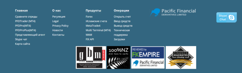 официальный сайт pacific financial derivatives