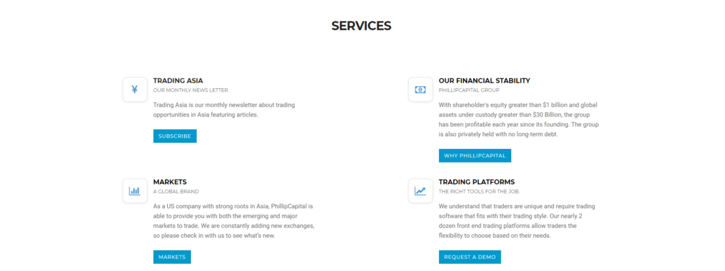 phillipcapital сервисы компании